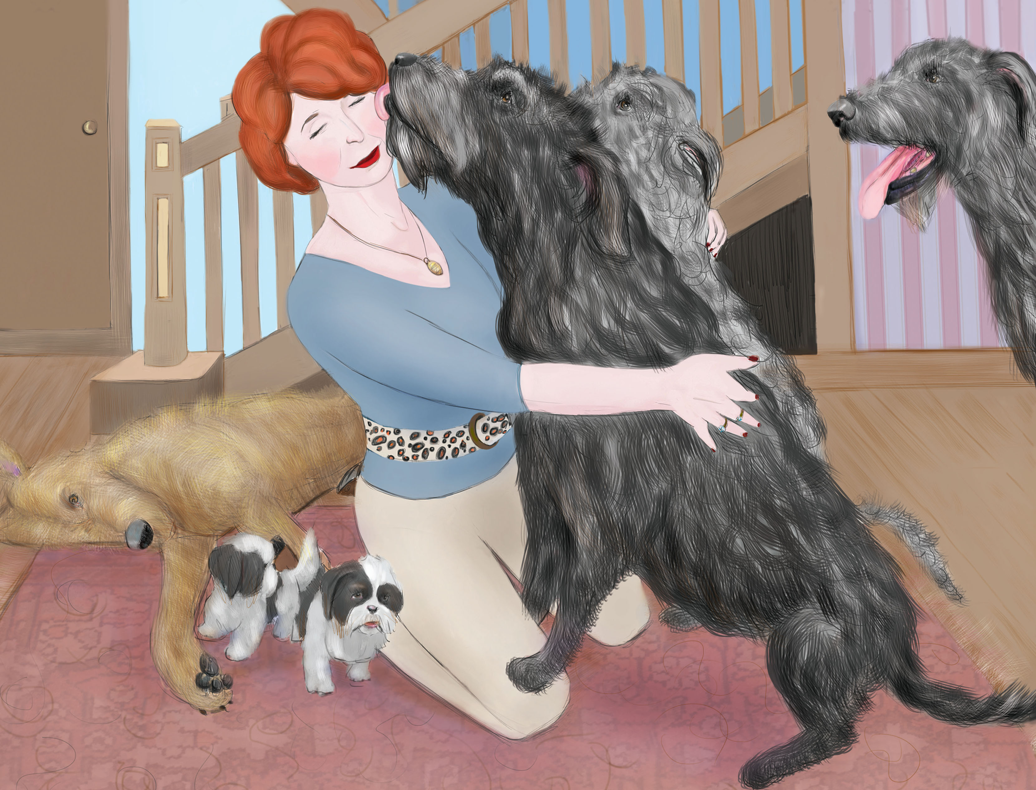 Charlene_with_dogs