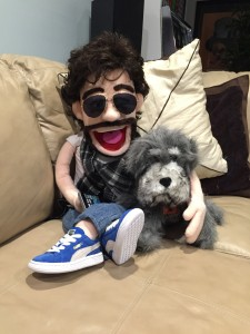 Piper with his puppet